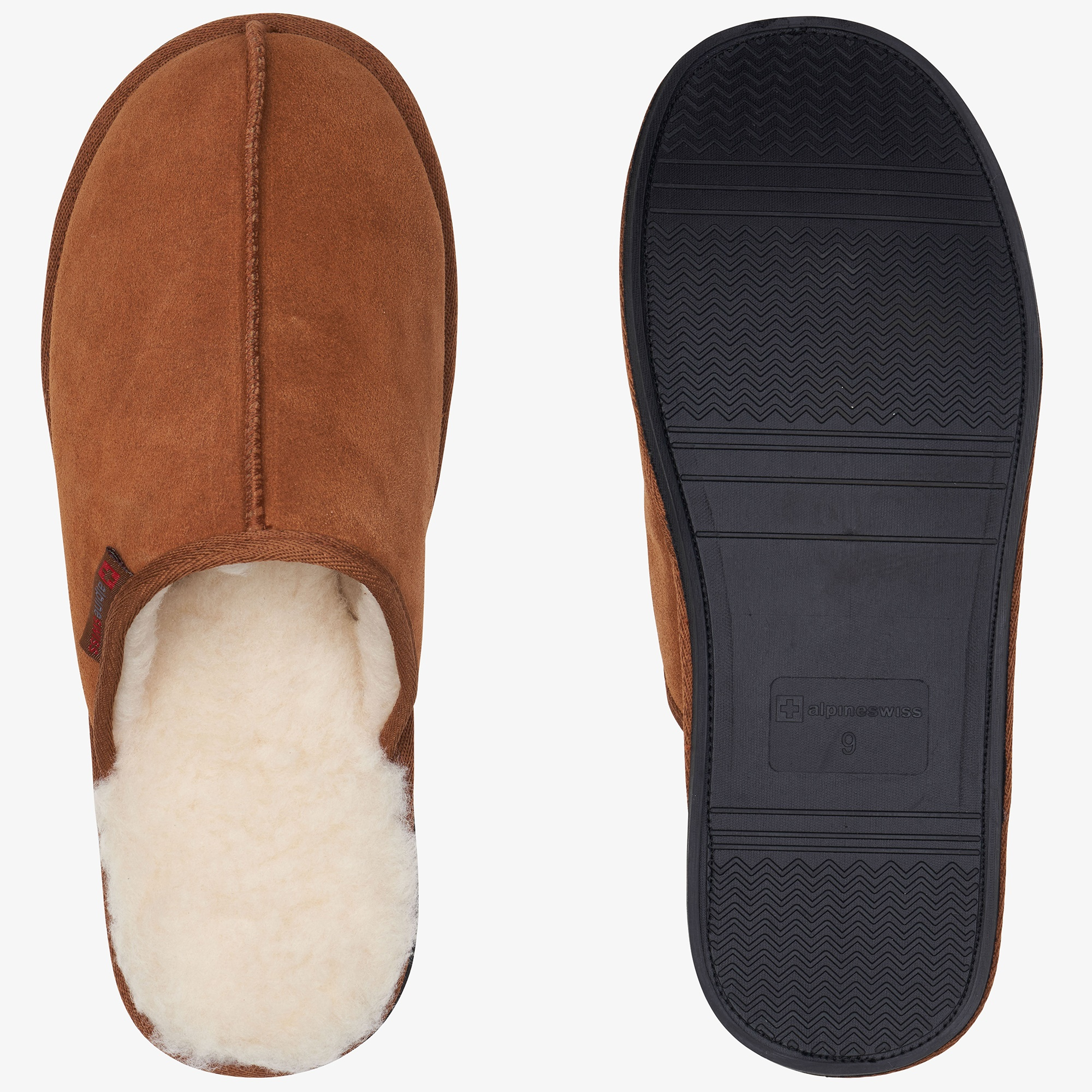 Alpine-Swiss-Mens-Suede-Memory-Foam-Scuff-Slippers-Comfort-Slip-On-House-Shoes thumbnail 21