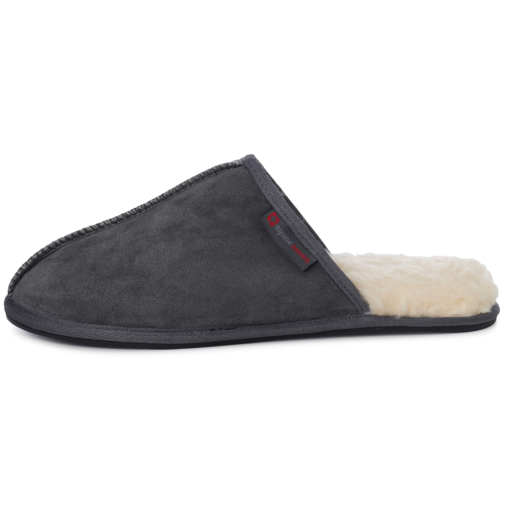Alpine-Swiss-Mens-Suede-Memory-Foam-Scuff-Slippers-Comfort-Slip-On-House-Shoes thumbnail 25