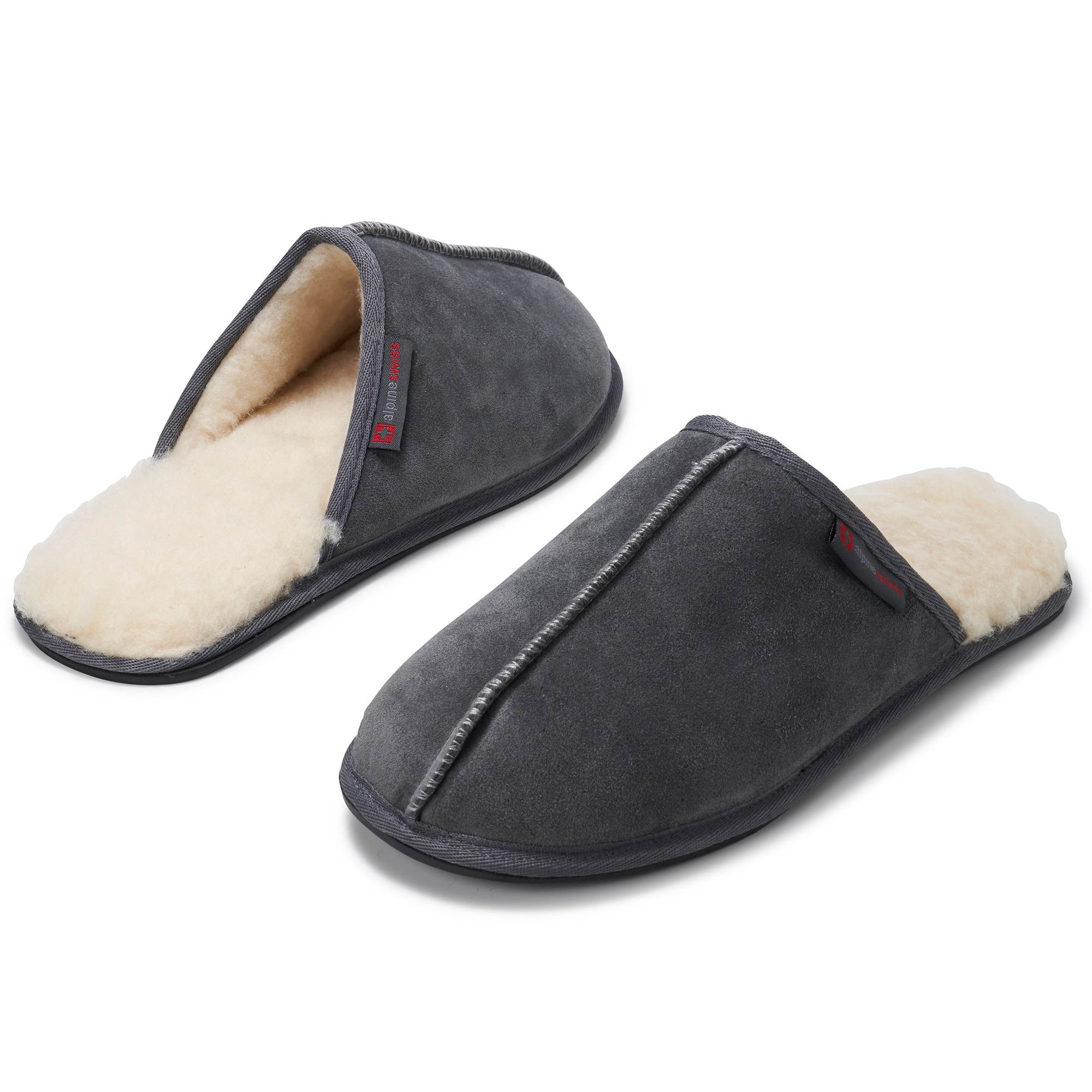 Alpine-Swiss-Mens-Suede-Memory-Foam-Scuff-Slippers-Comfort-Slip-On-House-Shoes thumbnail 26