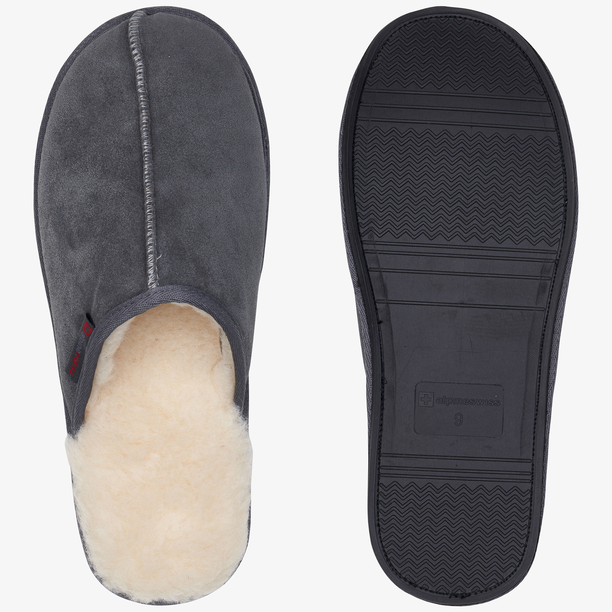 Alpine-Swiss-Mens-Suede-Memory-Foam-Scuff-Slippers-Comfort-Slip-On-House-Shoes thumbnail 27