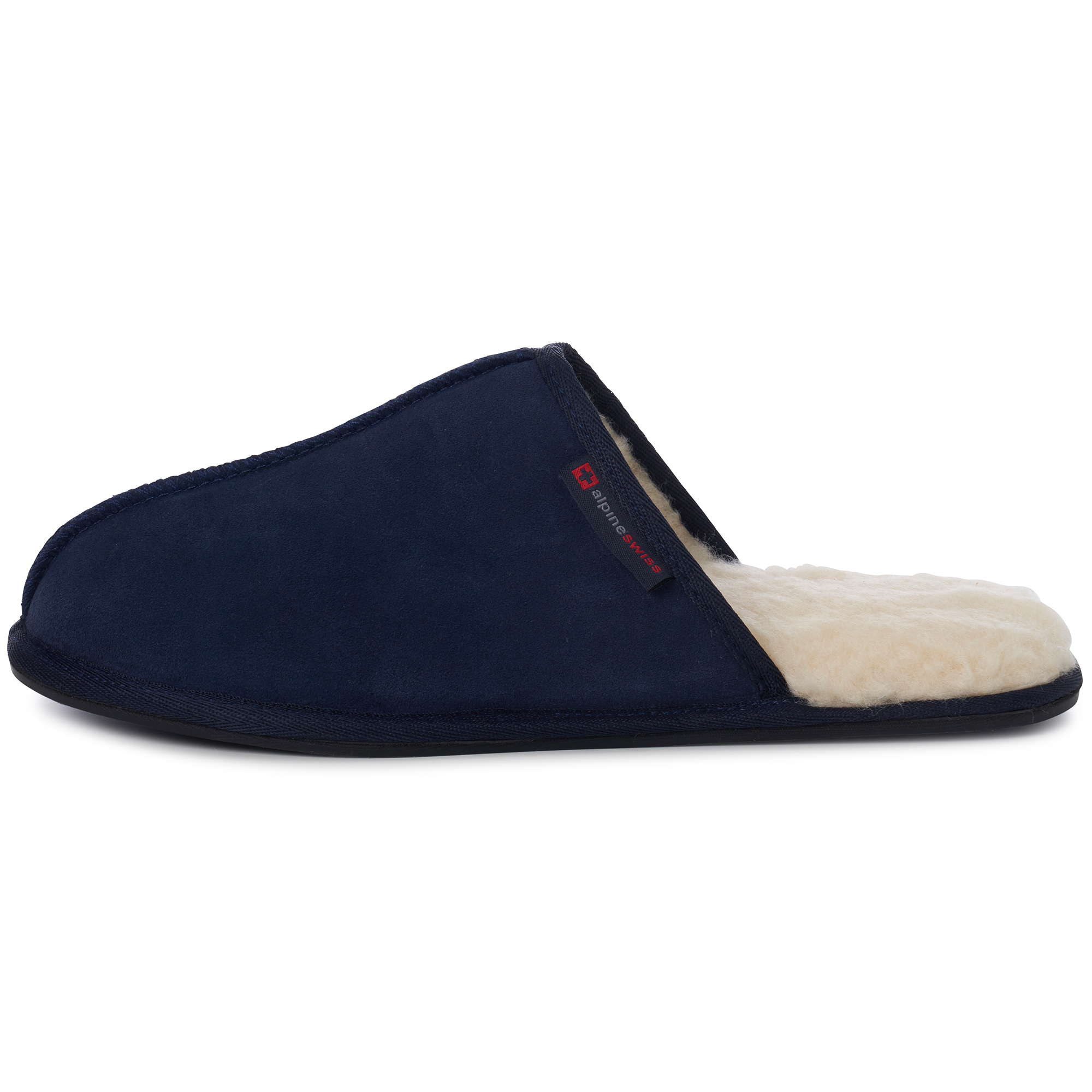 Alpine-Swiss-Mens-Suede-Memory-Foam-Scuff-Slippers-Comfort-Slip-On-House-Shoes thumbnail 31