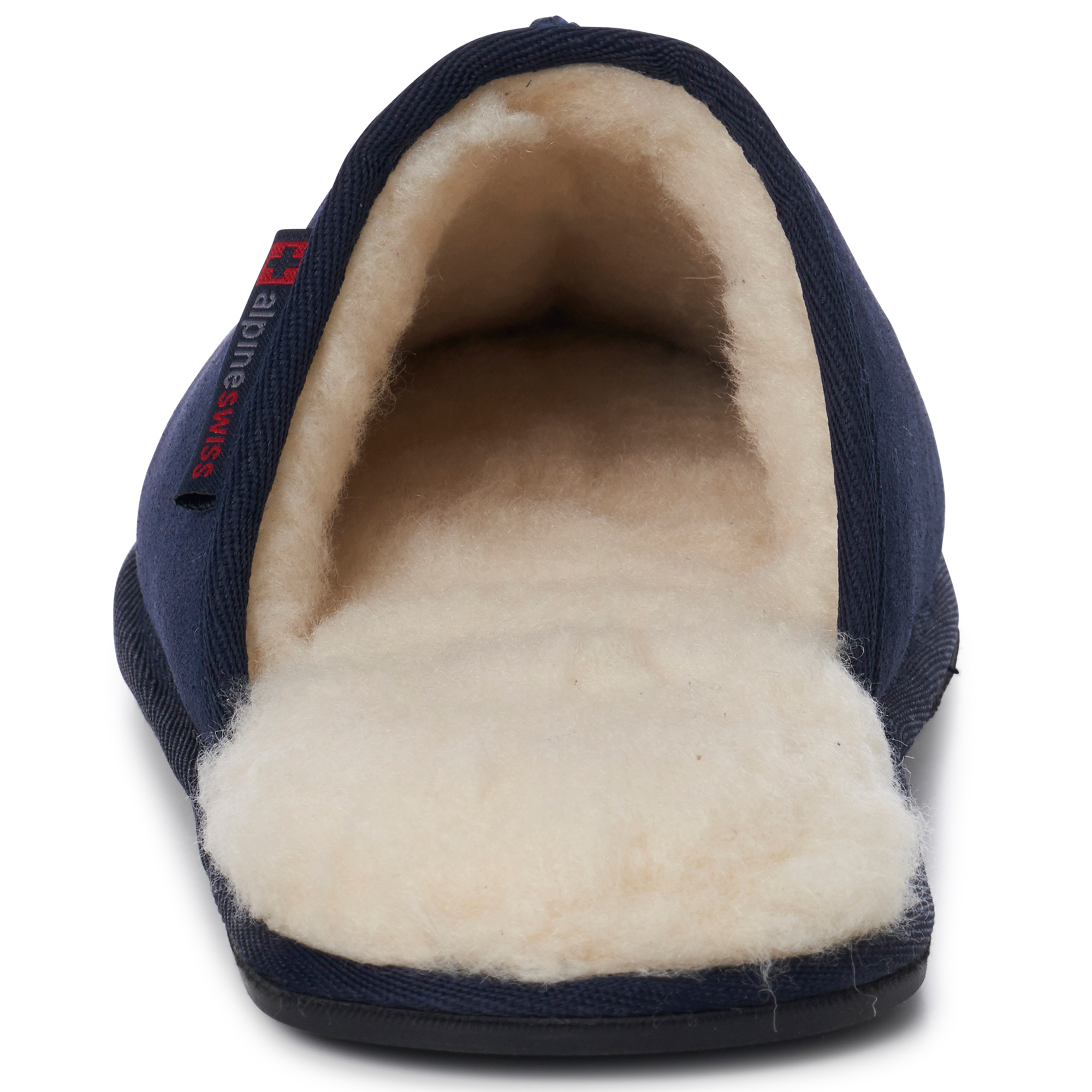 Alpine-Swiss-Mens-Suede-Memory-Foam-Scuff-Slippers-Comfort-Slip-On-House-Shoes thumbnail 34