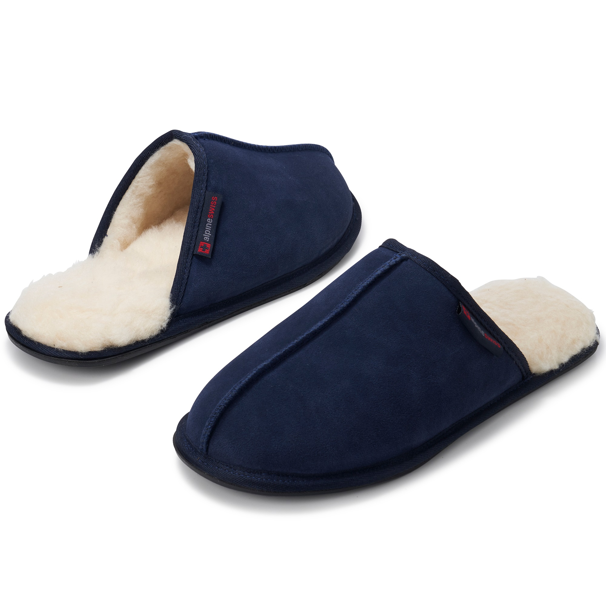 Alpine-Swiss-Mens-Suede-Memory-Foam-Scuff-Slippers-Comfort-Slip-On-House-Shoes thumbnail 32