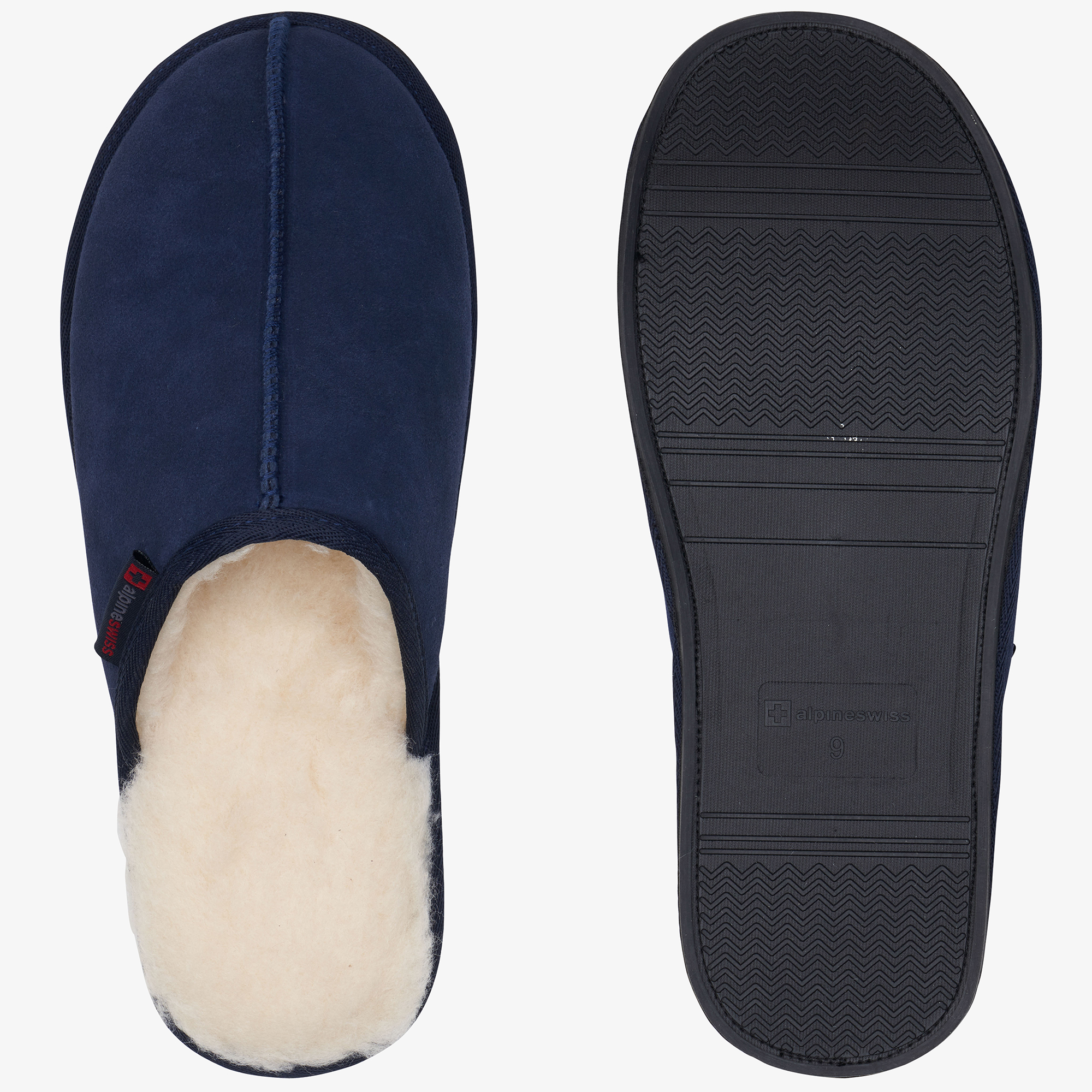 Alpine-Swiss-Mens-Suede-Memory-Foam-Scuff-Slippers-Comfort-Slip-On-House-Shoes thumbnail 33