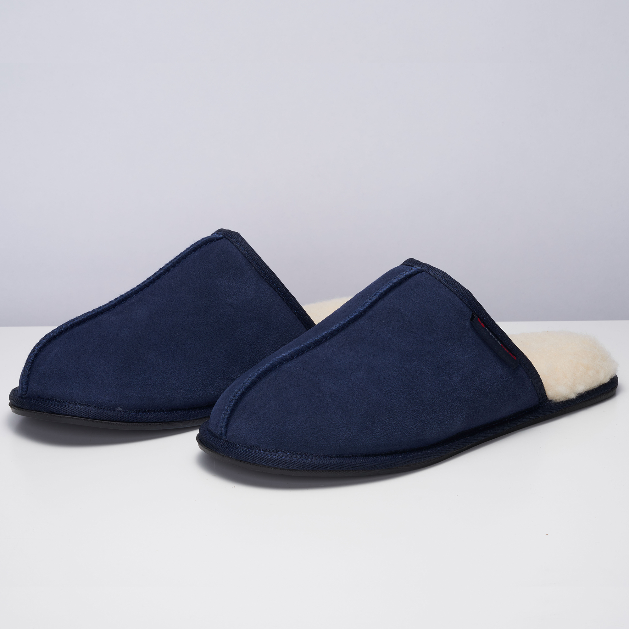 Alpine-Swiss-Mens-Suede-Memory-Foam-Scuff-Slippers-Comfort-Slip-On-House-Shoes thumbnail 35