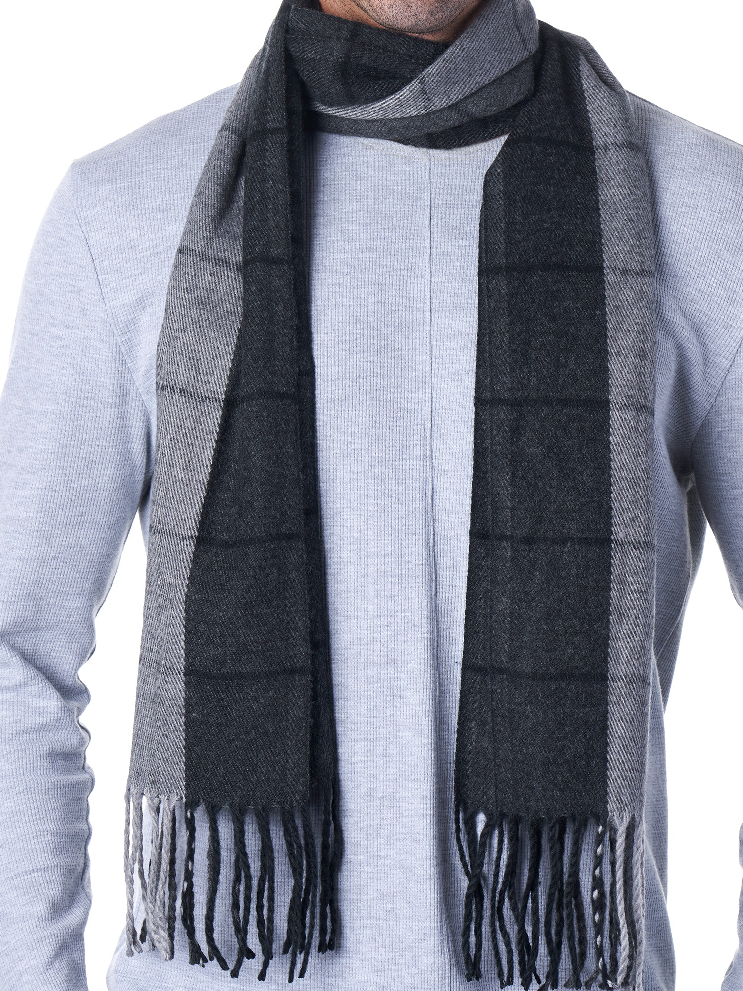 Hammer-Anvil-Mens-Plaid-Striped-Scarf-Womens-Winter-Scarves-Cashmere-Soft-Feel thumbnail 28