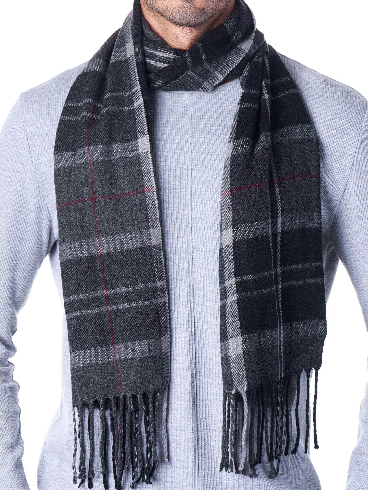 Hammer-Anvil-Mens-Plaid-Striped-Scarf-Womens-Winter-Scarves-Cashmere-Soft-Feel thumbnail 33