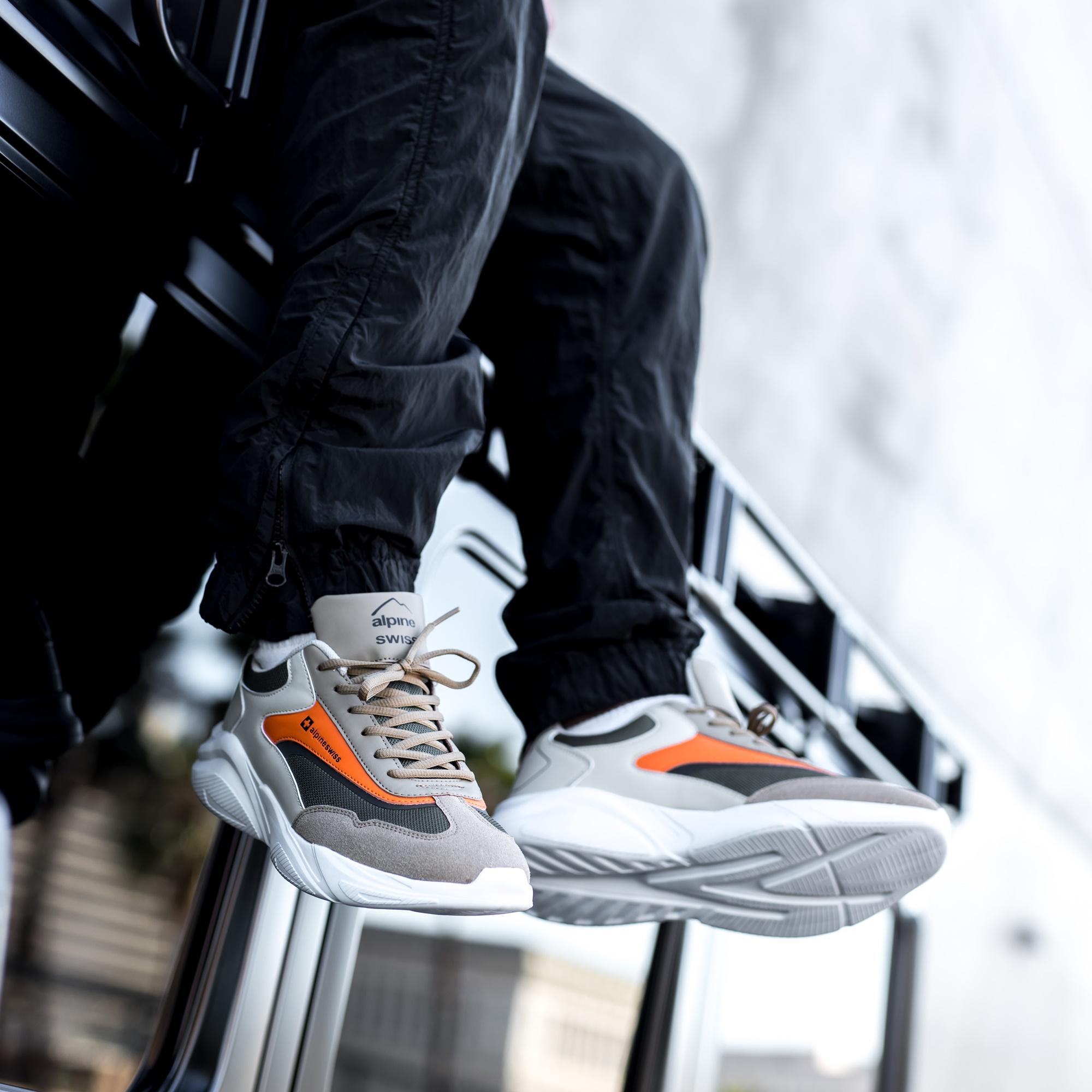 Alpine-Swiss-Stuart-Mens-Chunky-Sneakers-Retro-Platform-Dad-Tennis-Shoes thumbnail 31