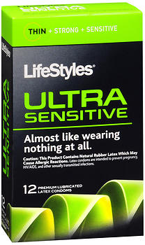 LifeStyles Ultra Sensitive Condoms Lubricated Latex - 14 ct AN1714