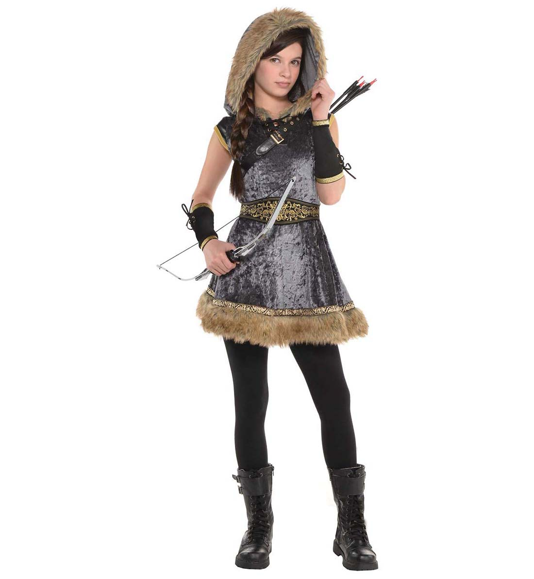 Deluxe Robin Hood Girl/'s size S 4//6 Renaissance Faire Costume Oufit Rubie/'s