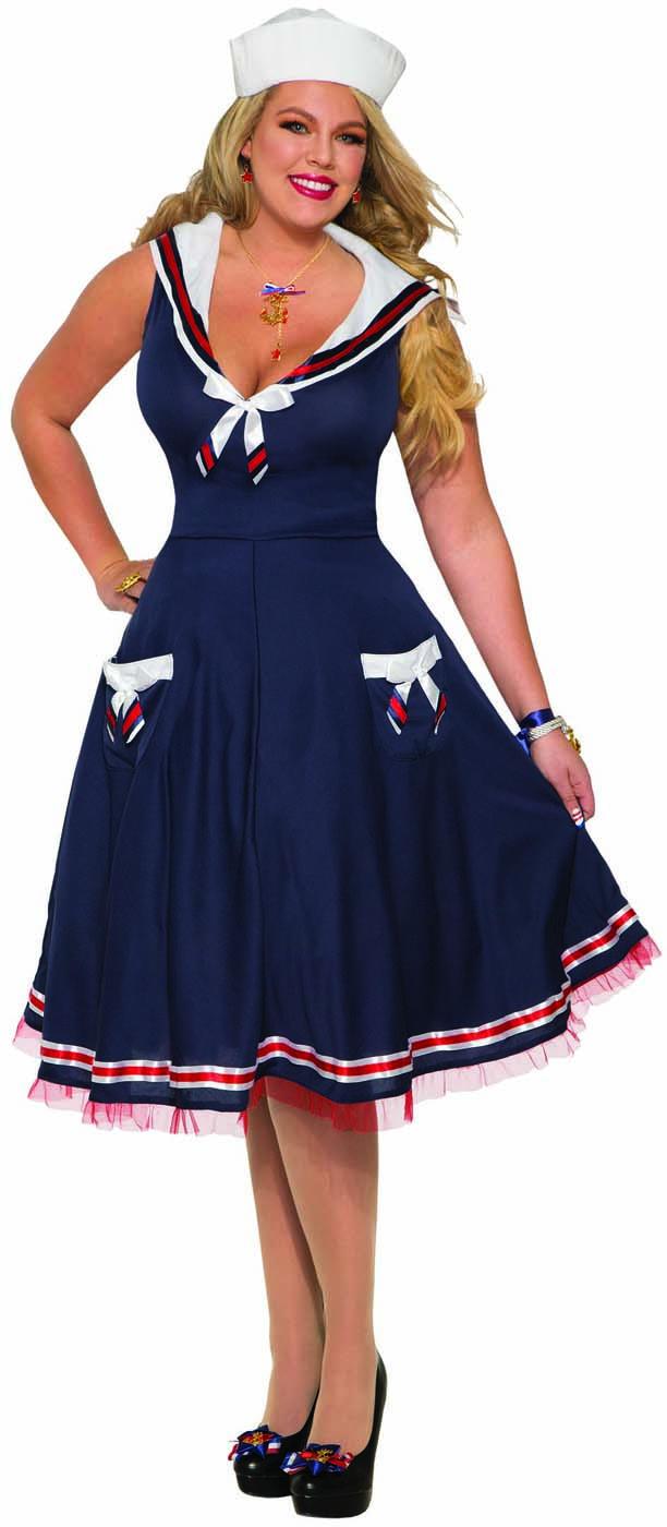 Womens Mens Ahoy Sailor Costume Sailor Halloween Costume