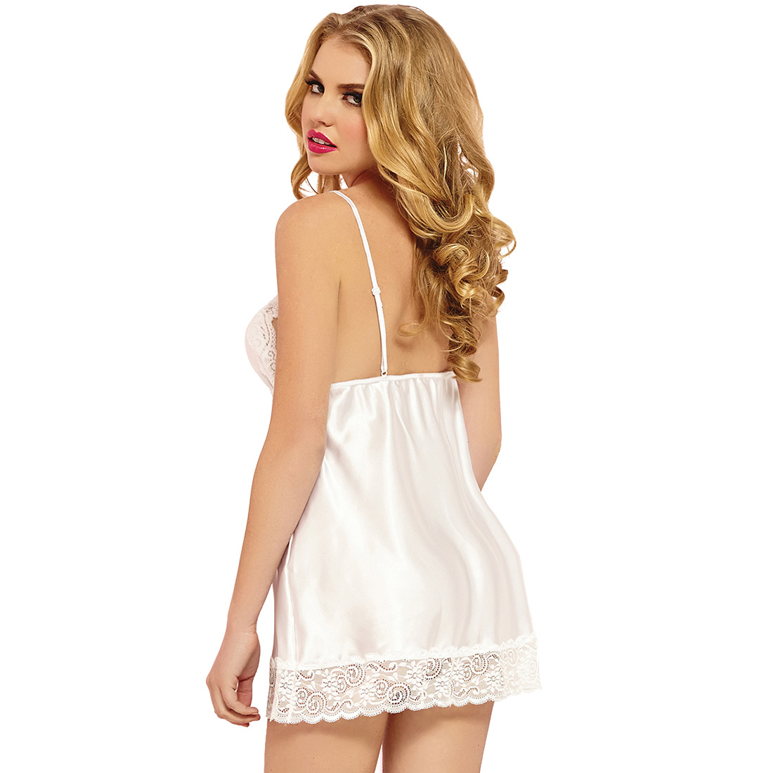 White Womens Satin Robes Bridal Bridesmaid Wedding Robe Silk Lace ... dda48791b
