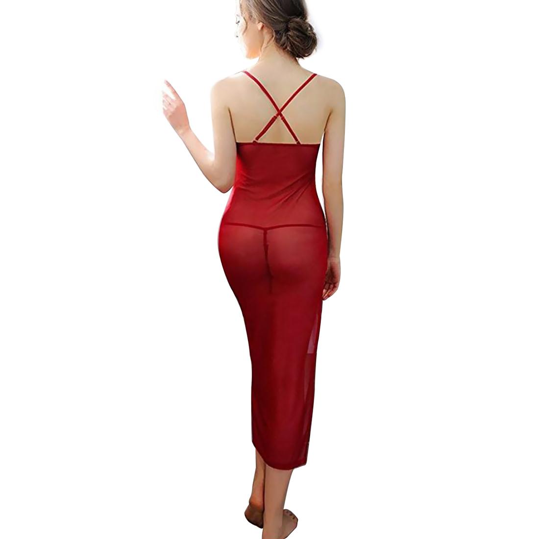 womens lingerie sheer mesh nightgown long maxi night dress. Black Bedroom Furniture Sets. Home Design Ideas