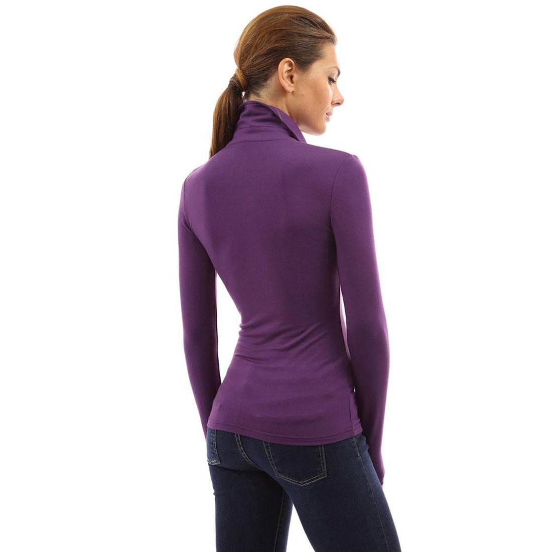 Purple Polo Shirts Women Rldm