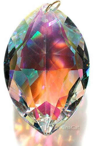 Huge-8745-50-Strass-SWAROVSKI-Cats-Eye-Marquis-Austrian-Crystal-Prism-2-inches