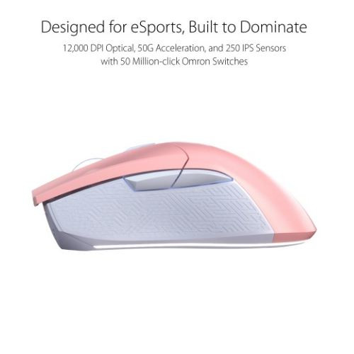 ASUS-ROG-Gladius-II-2-Aura-Sync-Wired-PNK-Wireless-Gaming-Mouse-All-Models-VS thumbnail 12