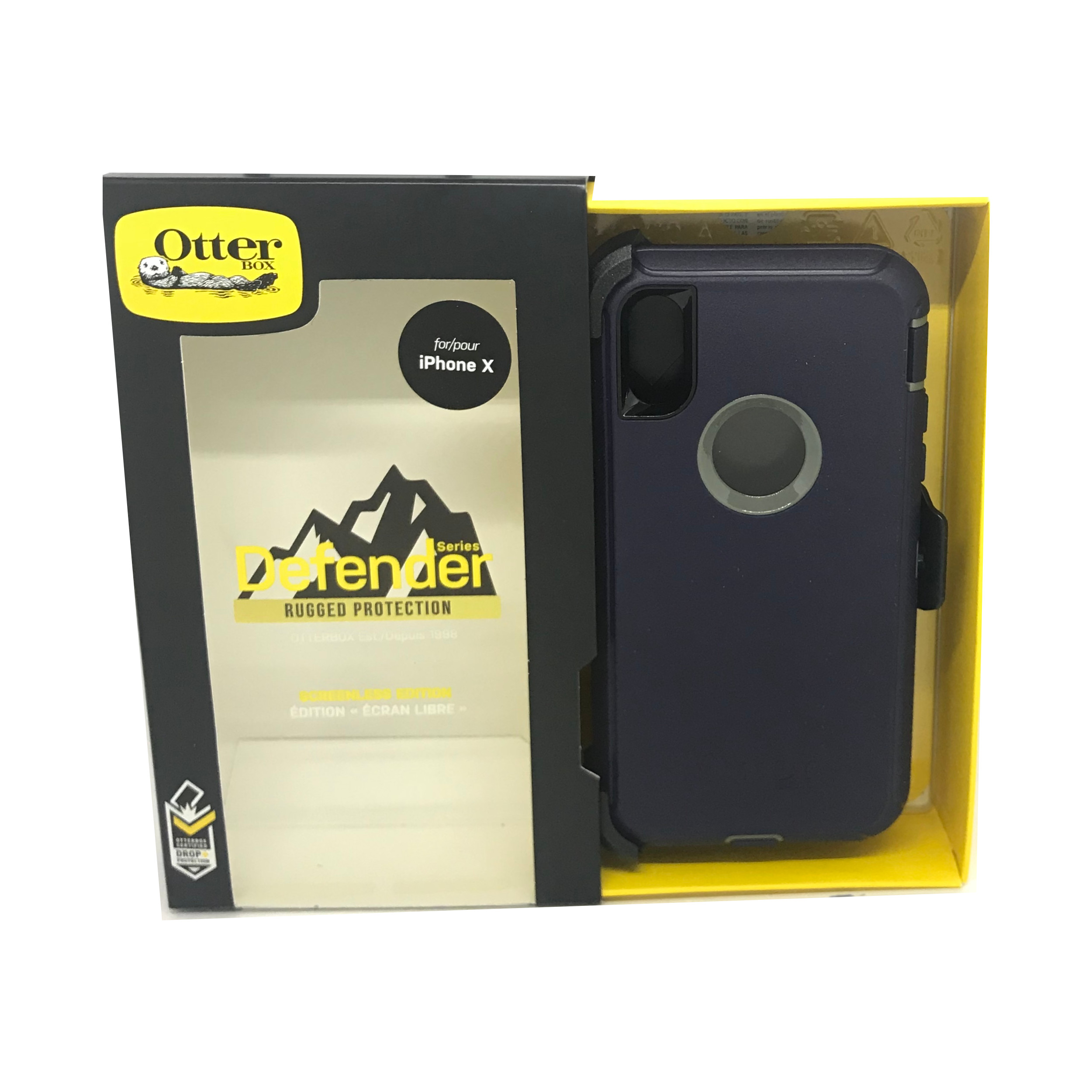 OtterBox-Defender-iPhone-Xs-X-Screenless-Case-Holster-Port-Covers-All-Colours-SS thumbnail 8