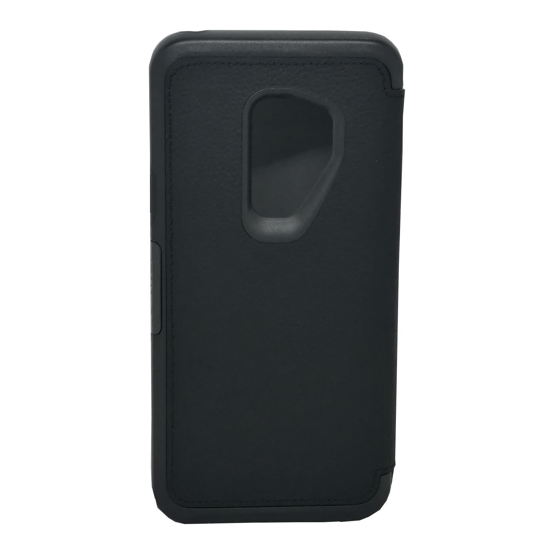 hot sales 0bdb7 c7019 OTTERBOX Strada Leather Folio Wallet Case for Samsung Galaxy S9 Plus Black