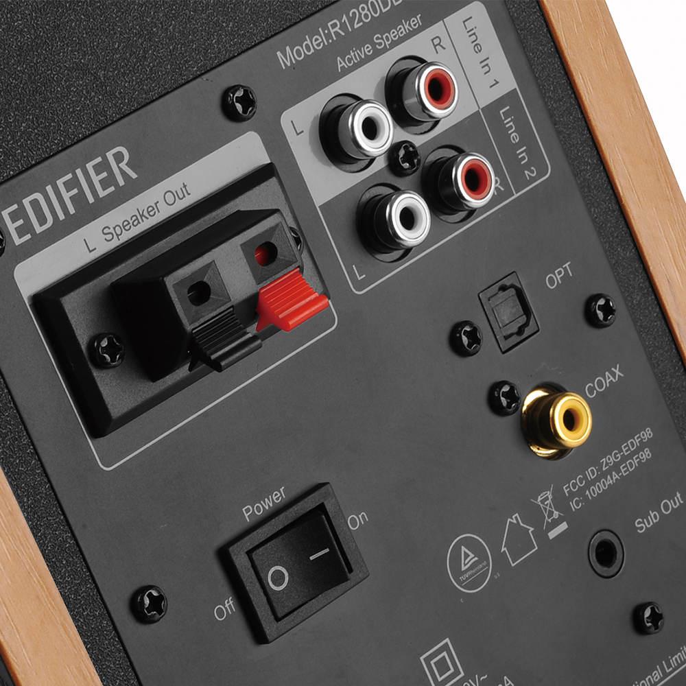 thumbnail 14 - Edifier R1280DBS Bookshelf Bluetooth 5.0 Speakers Classic Design All Colours VS