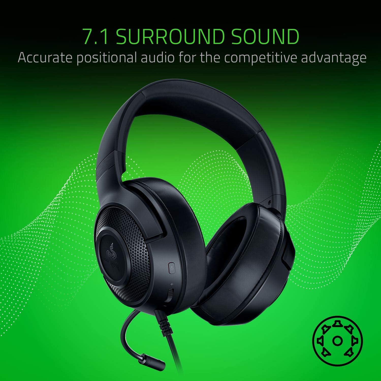 Razer-Kraken-X-Console-Ultralight-7-1-Gaming-Headset-w-Microphone-All-Colours-VS thumbnail 8
