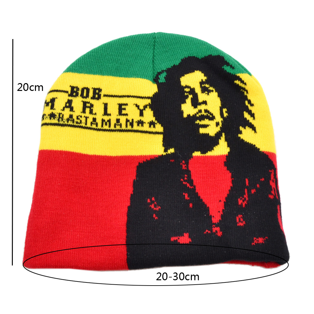 Women Men S Hip Hop Hat Bob Marley Lion Pattern Knitted
