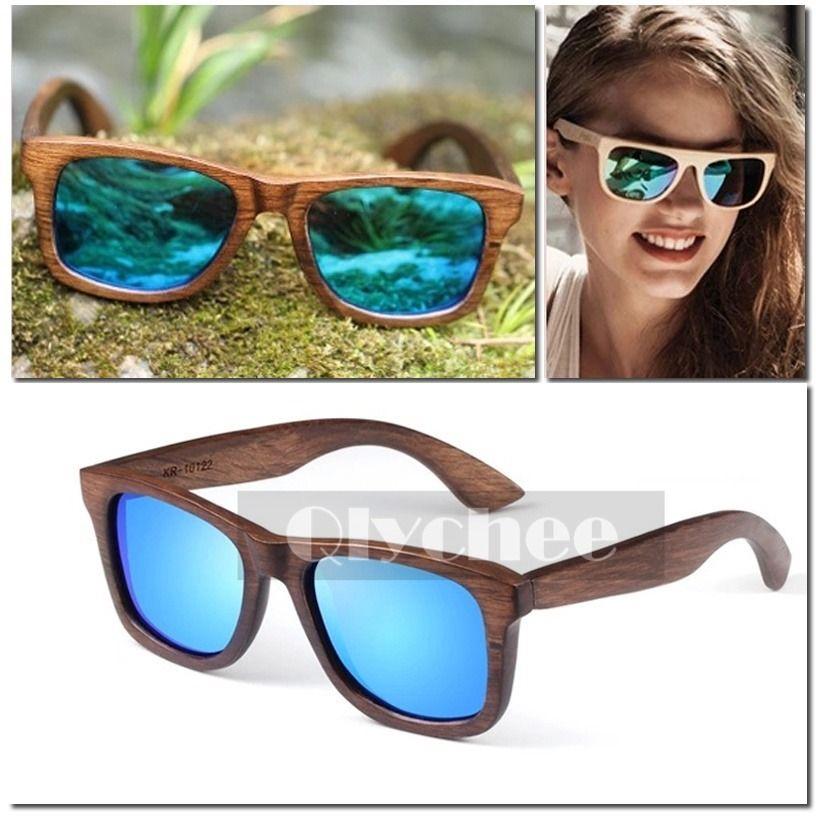39ab6249ee gafas de sol de madera mujer