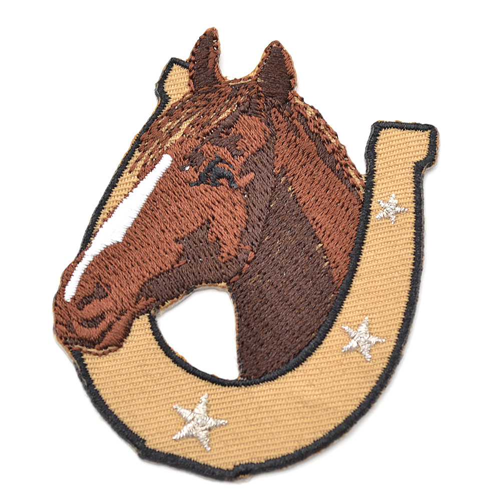 Horse Pattern Iron On Patches Embroidered Badge Applique