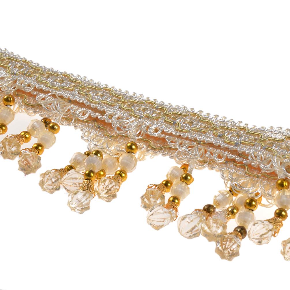 Tassel Fringe Trim Crystal Beaded Ribbon Sewing Curtain