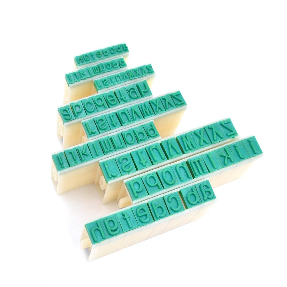 26 Pcs Plastic Rubber English Alphabet Letters Stamps Set