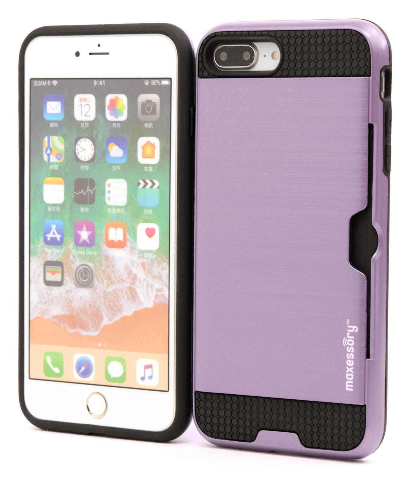 Apple-iPhone-7-Plus-8-Plus-Premium-Hybrid-Textured-Armor-Shell-Cover-Case thumbnail 29