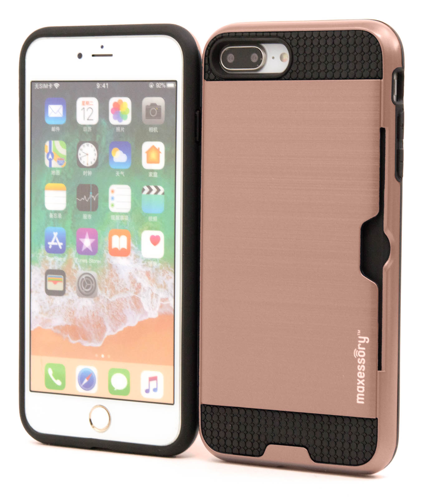 Apple-iPhone-7-Plus-8-Plus-Premium-Hybrid-Textured-Armor-Shell-Cover-Case thumbnail 35