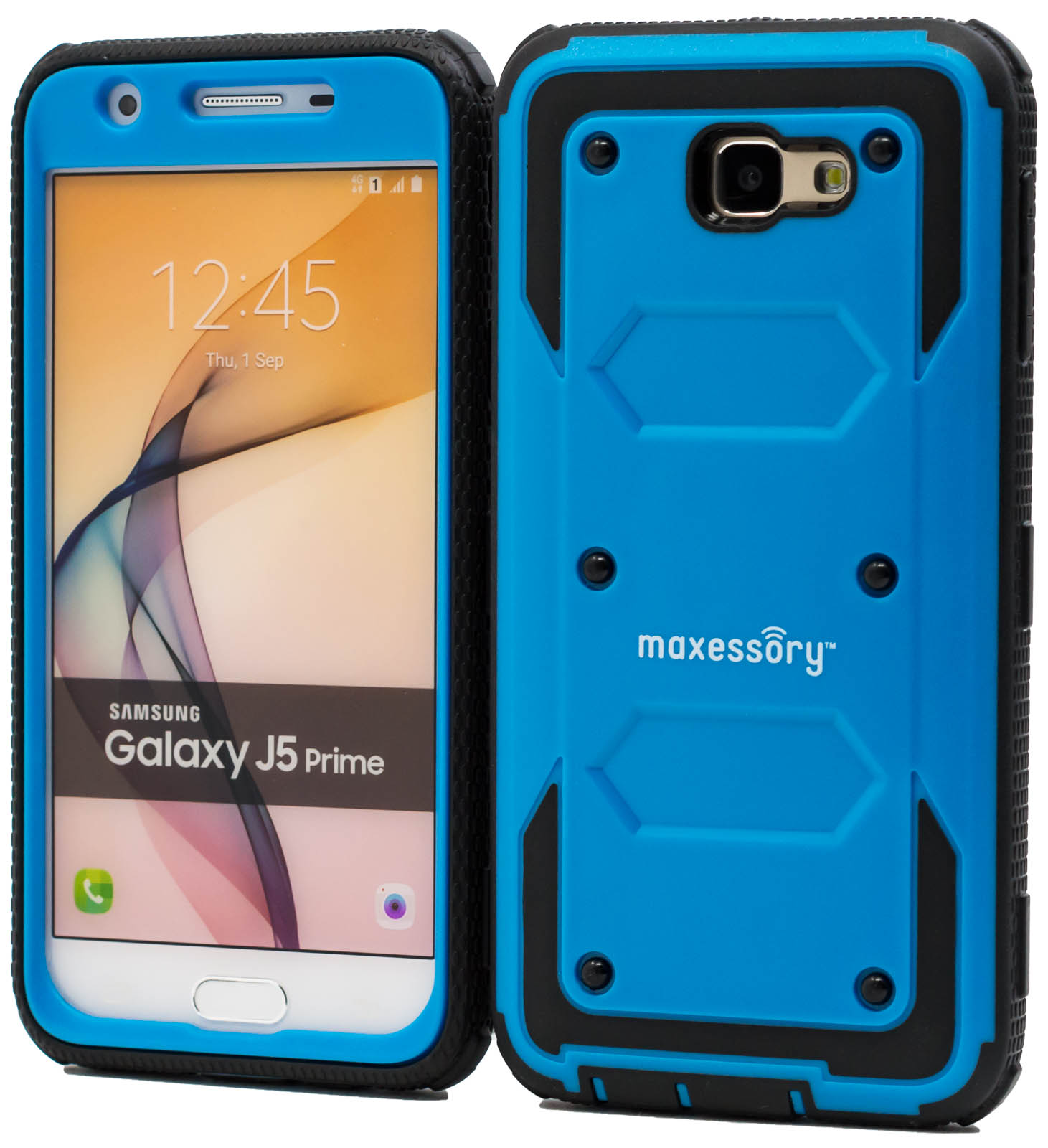 best website f06eb c2a1a Details about Samsung Galaxy J5 Prime Case, Tough Rigid Hybrid Hard Shell  Armor Cover