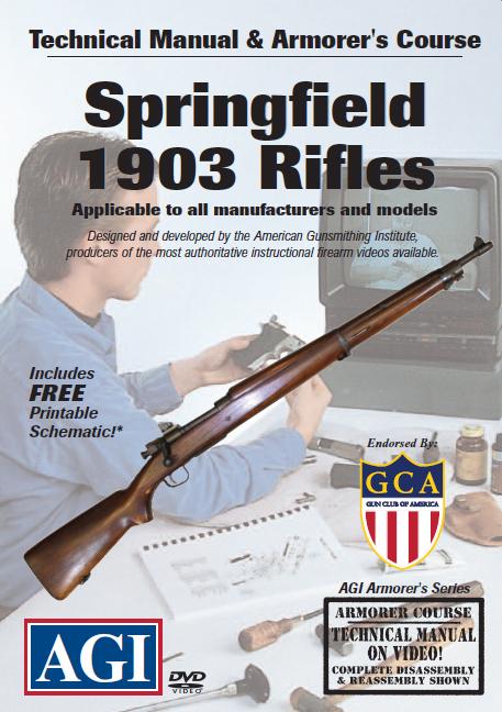 Details about AGI Springfield 1903 1903A3 Rifle Gun Repair Gunsmith DVD