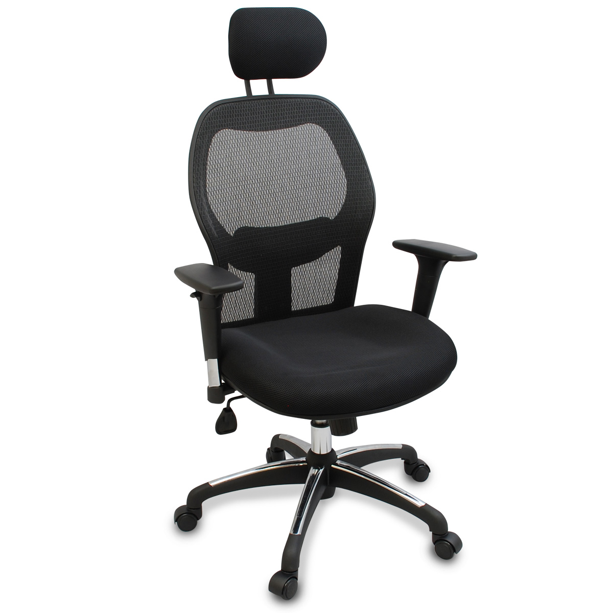 New Mesh Reclining Office Chair W/ No Scuff Rubber Wheels