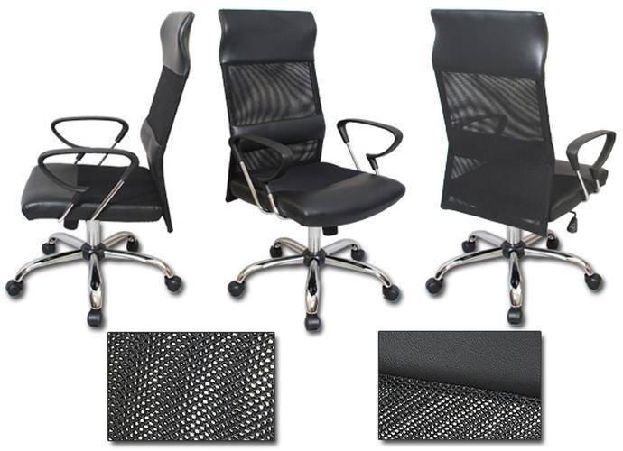 Black Mesh Ergonomic Executive Office Chair Chrome Base