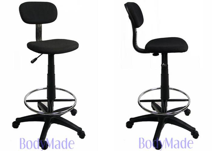 Categories. Fully Adjustable Office Chairs ...  sc 1 st  eBay & New Drafting Chair Stool Adjustable Black Fabric Office | eBay islam-shia.org