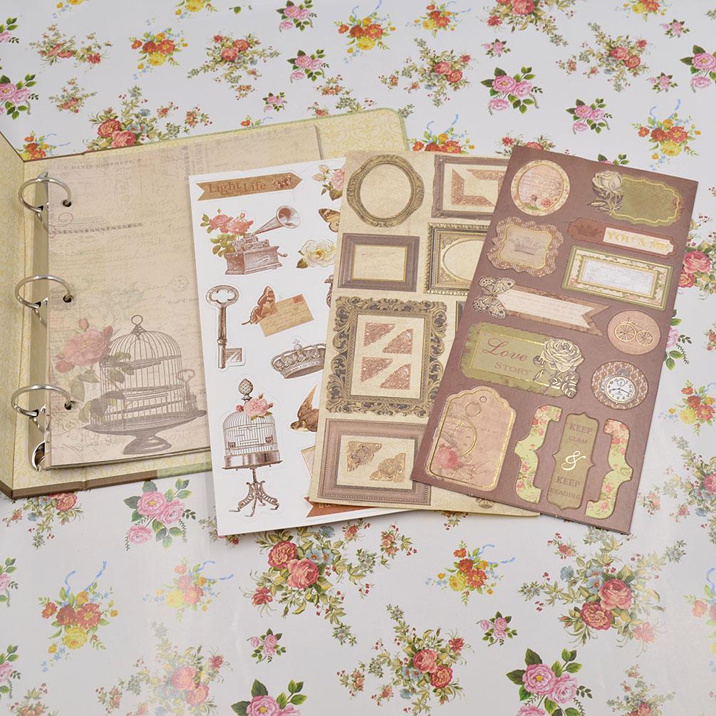 Vintage Binder Scrapbooking Album DIY Hand Craft Kit