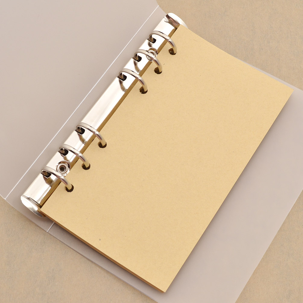 A5 A6 Transparent Clear Binder File Folder Document Paper