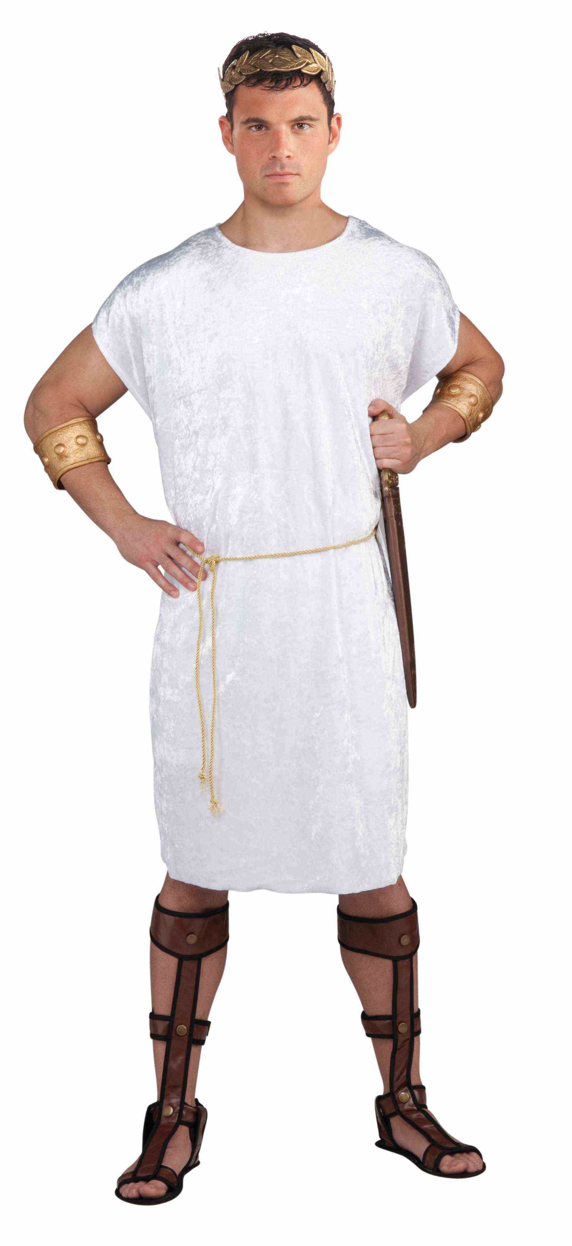 Black Men/'s Tunic with Gold Rope for Adult Viking Roman Soldier Peasant Medieval