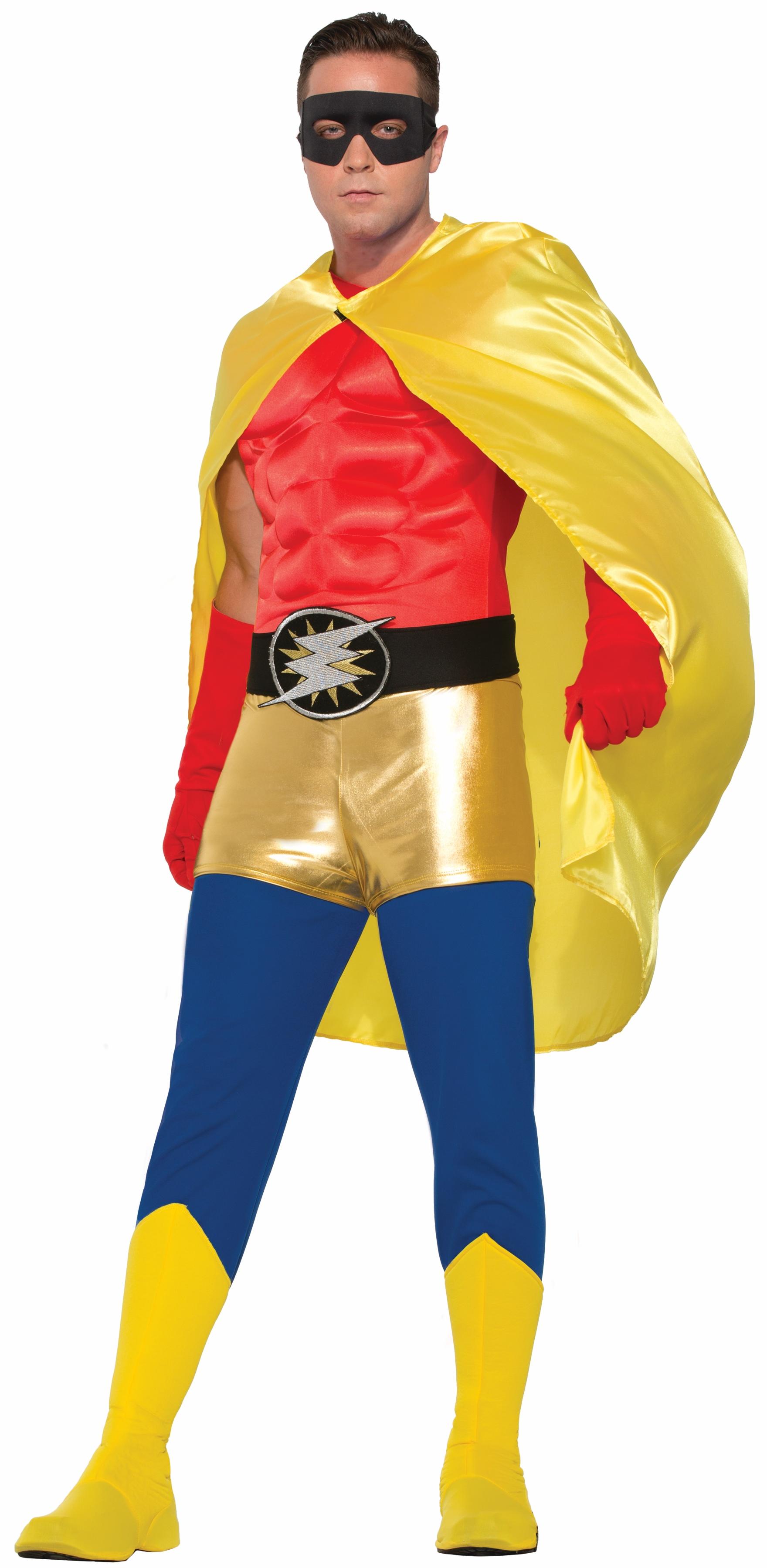 Adult Super Hero Costume Cape Men Women Halloween Villain -9328