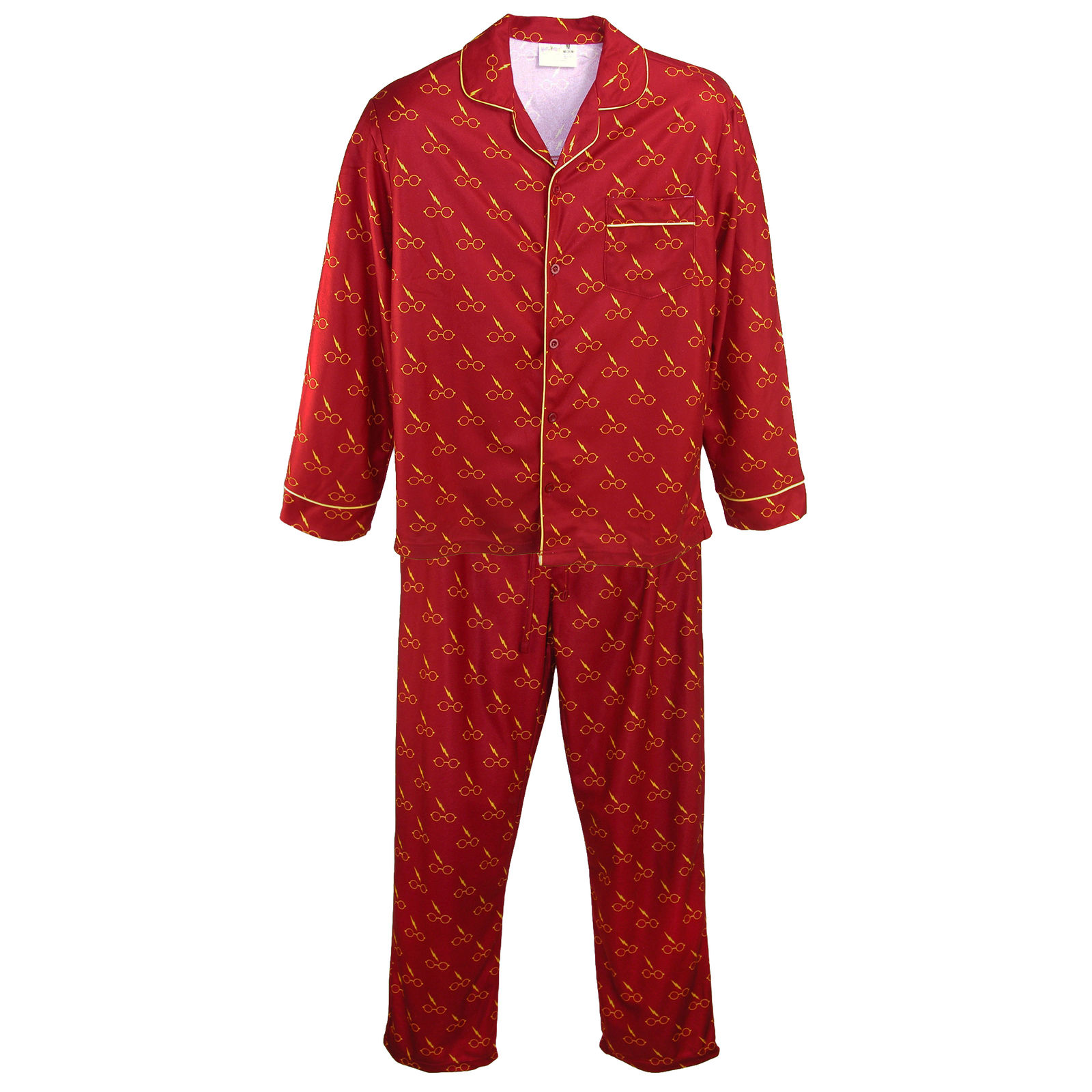 c9e0e3d6e922b Details about Harry Potter Pajama Set Men Long Sleeve Adult Flannel PJ  Sleepwear Glasses SM-XL