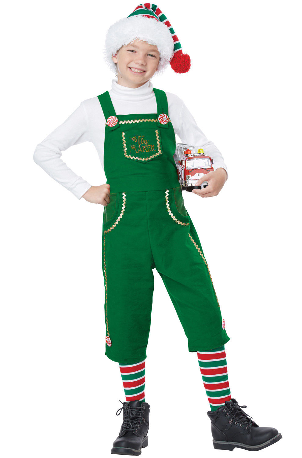 95b756a538d8 Cute Toymaker Elf Santa s Helper Boys Childrens Christmas Holiday ...