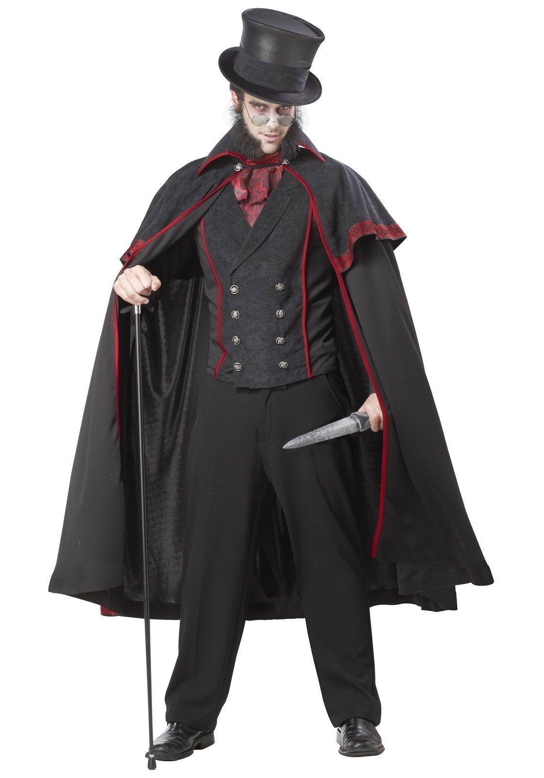 Image is loading Jack-The-Ripper-Men-Halloween-Costume-V&ire-Adult-  sc 1 st  eBay & Jack The Ripper Men Halloween Costume Vampire Adult Victorian ...