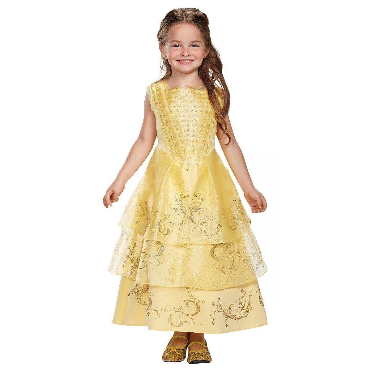 e01d341ce16 Disney Belle Ball Costume Dress Beauty N  The Beast Girls Yellow ...