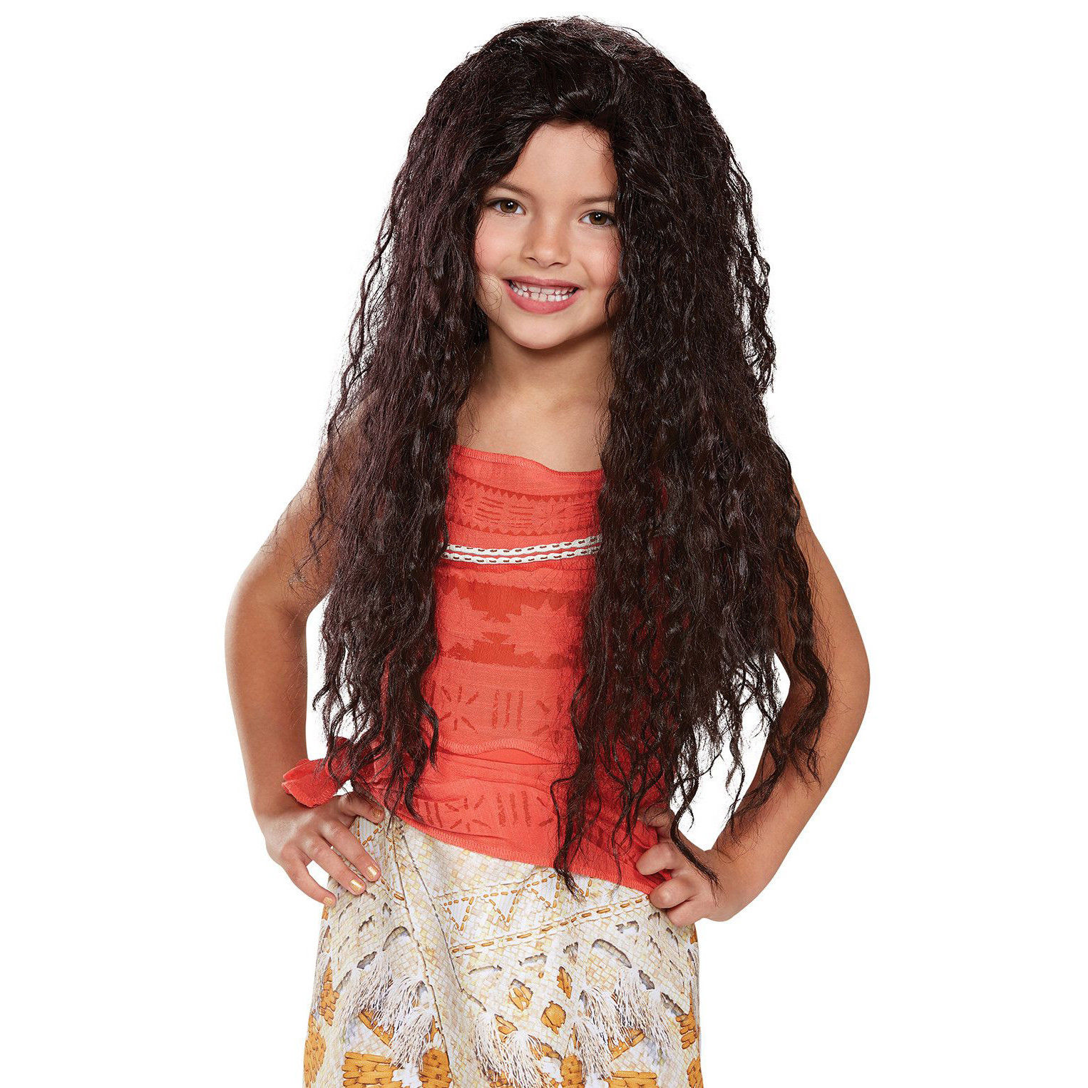 Disney Moana Deluxe Girl Child Wig Long Curly Hair Licensed Costume Accessory Ebay