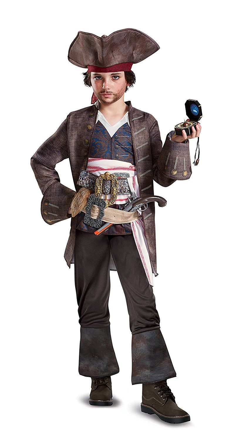 Disney Store Captain Jack Sparrow Boy Costume Pirates Caribbean Halloween Outfit