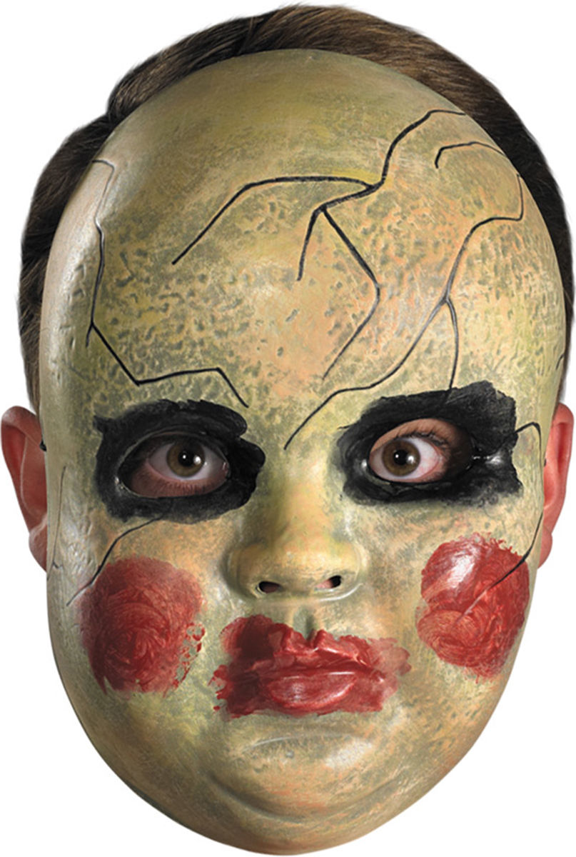 Purge Smeared Painted Baby Doll Face Mask Creepy Scary Halloween ...