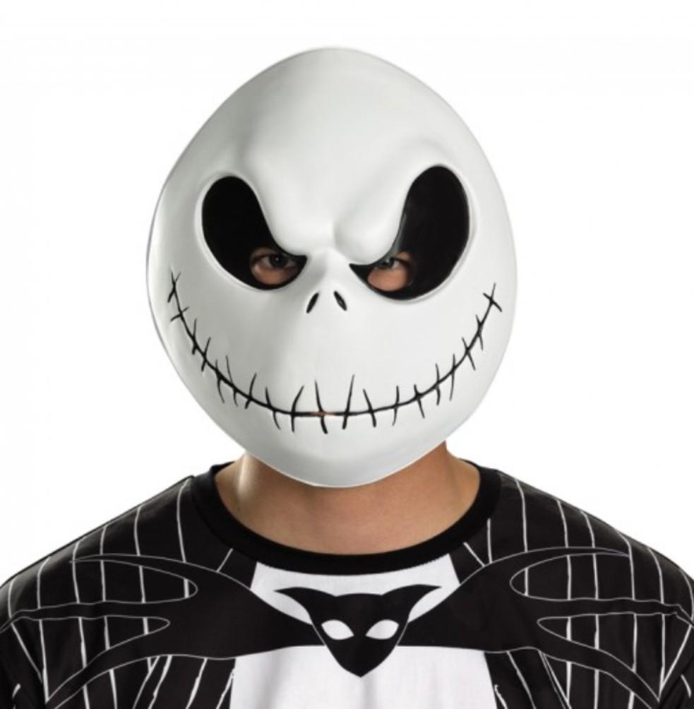 Jack Skellington Adult PVC Vacuform Mask Nightmare Before Christmas Costume Acce