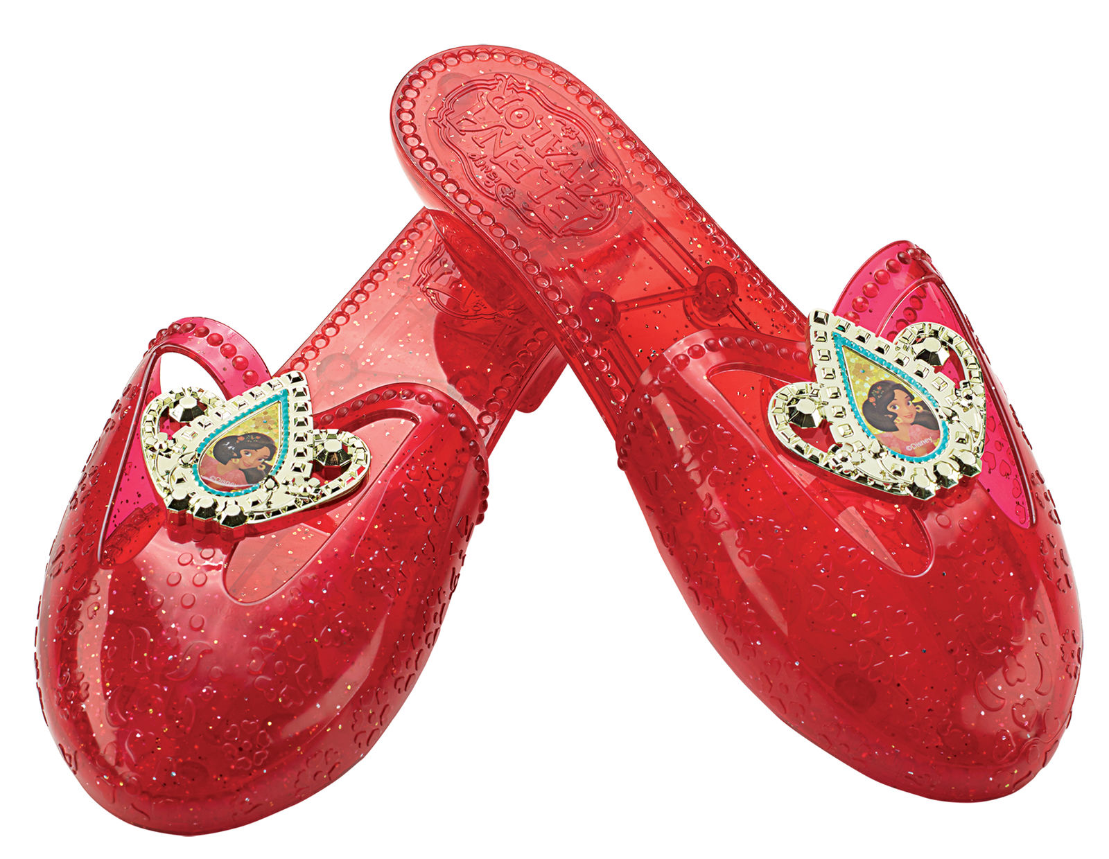 dbed60876464 Disney Elena of Avalor Ruber Red Jelly Shoes Princess Girls Costume ...