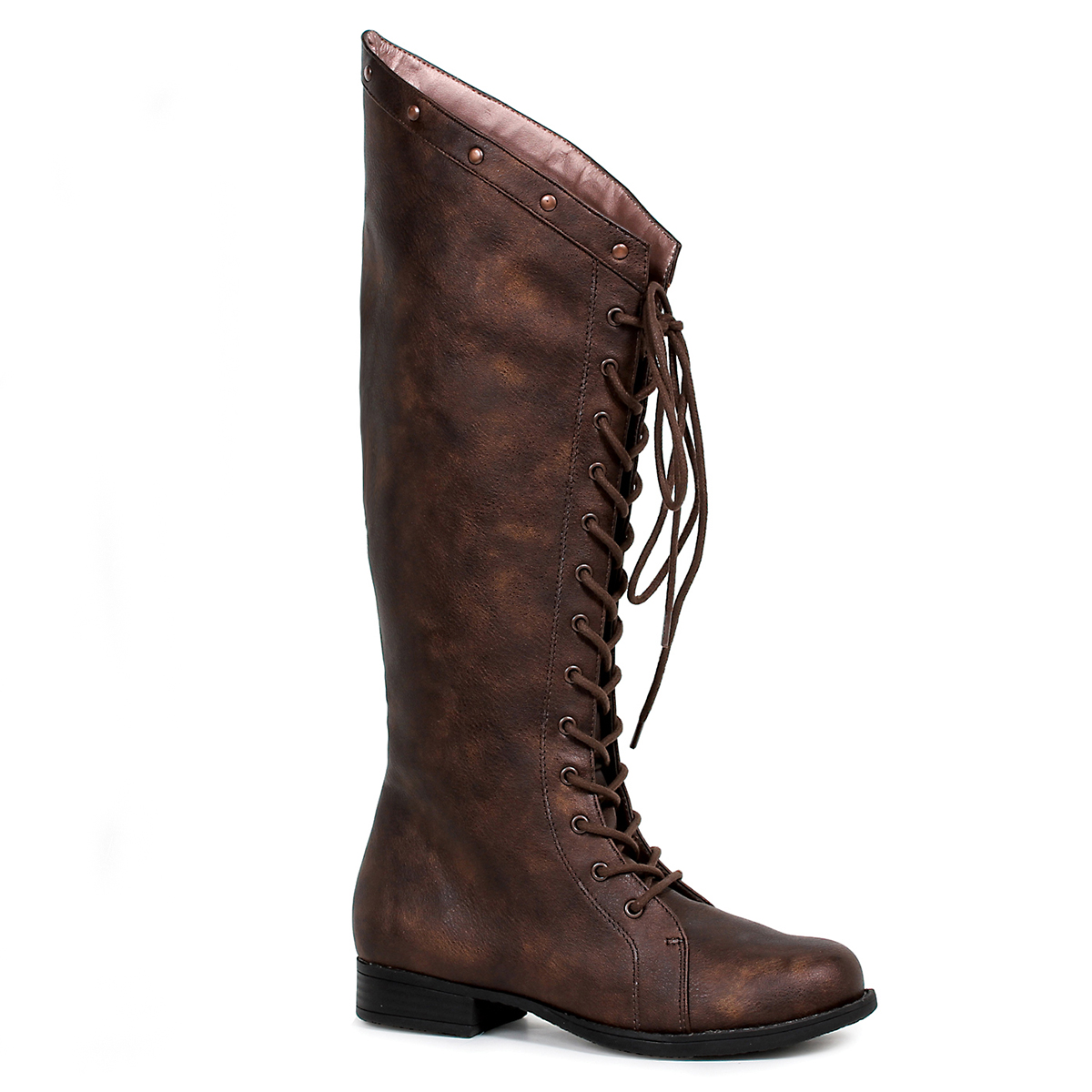 02bd7dc8a9141 Ellie Women's Brown Huntress Knee High Costume Boot Lace-up ...